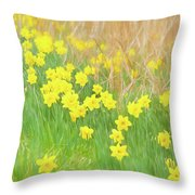 A Host Of Daffodils Throw Pillow
