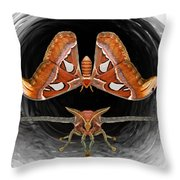 A Is For Atlas Moth Throw Pillow