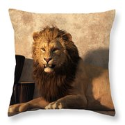 A Lion Among Drums Throw Pillow