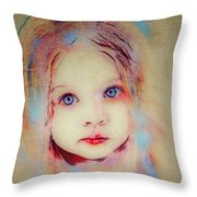 A Little Angel  Throw Pillow