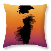A Little Black Dress In The Sunset Throw Pillow