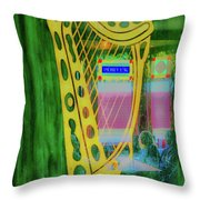 A Little Music Throw Pillow