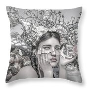 A Matter Of Time Throw Pillow