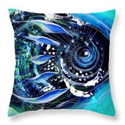 A New Breed In Blues Throw Pillow