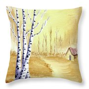 A New Day Throw Pillow by Rich Stedman