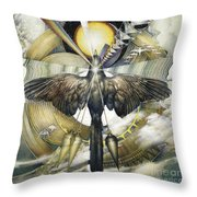 A Painting Alludes To Powers That Might Enable Birds To Migrate. Throw Pillow