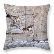 A Piece Of The Wailing Wall Throw Pillow
