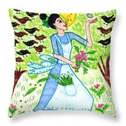 A Pocketful Of Peas 1 Throw Pillow