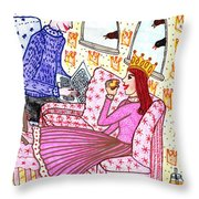 A Pocketful Of Peas 3 Throw Pillow