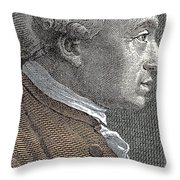 A Portrait Of Immanuel Or Emmanuel Kant Throw Pillow
