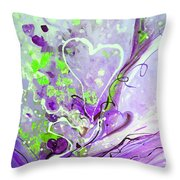 A  Purple Love Story Throw Pillow
