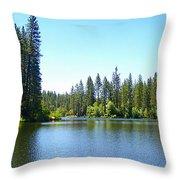 A Quiet Place - Bass Lake Throw Pillow