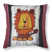 A Red Lion.  Throw Pillow