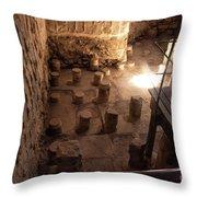 A Room Inside Masada Throw Pillow