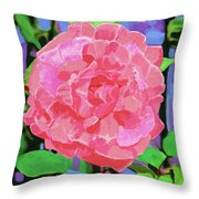 A Rose With Heart Throw Pillow by Deborah Boyd