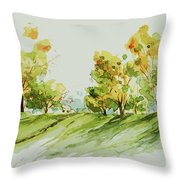 A Simple Landscape Throw Pillow