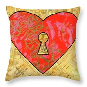 A Steamy Romance Throw Pillow