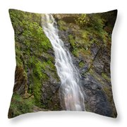 A Touch Of Light On Bridal Veil Falls Throw Pillow