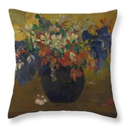 A Vase Of Flowers  Throw Pillow