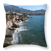 A View From A Balcony Throw Pillow