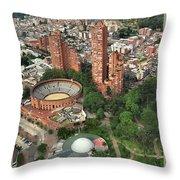 A View Of Downtown Bogota Throw Pillow