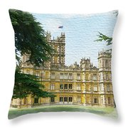 A View Of Highclere Castle 2 Throw Pillow by Joe Winkler