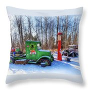 A Vintage Christmas Throw Pillow by Susan Rissi Tregoning