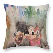 A Walk With Walt Throw Pillow