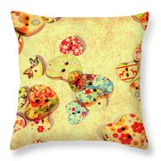 A Weathered Tailors Abstract Throw Pillow