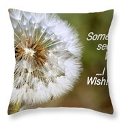 A Weed Or Wish? Throw Pillow