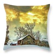 A Winter Eve Throw Pillow