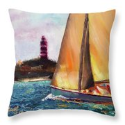 Abaco Rage On The Mark Throw Pillow