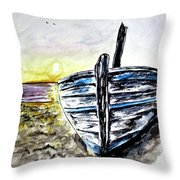 abandoned Fishing Boat No.2 Throw Pillow by Clyde J Kell