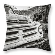 Abandoned Ghost Town Studebaker Truck Throw Pillow
