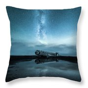 Abandoned In Iceland Throw Pillow