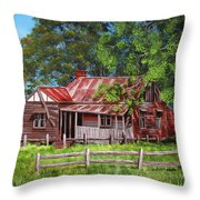 Abandoned Old Farm House Throw Pillow