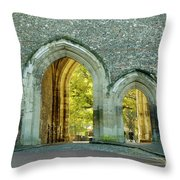 Abbey Gateway St Albans Hertfordshire Throw Pillow