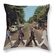 Abby Road Throw Pillow