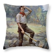 Abe Lincoln The Rail Splitter  Throw Pillow