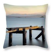 Aberdour Pier Throw Pillow
