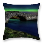 Aberffraw Bridge Anglesey Throw Pillow by Adrian Evans
