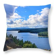 Above The Waters Throw Pillow