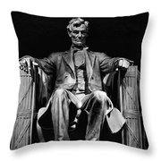 Abraham Lincoln Throw Pillow by Chris Lord