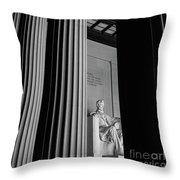 Abraham Lincoln Memorial Washington Dc Throw Pillow by Edward Fielding
