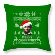Abraham Lincoln Merry Christmas Throw Pillow