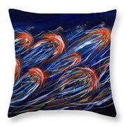 Abstract Dusk Throw Pillow