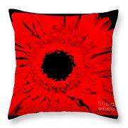 Abstract Gerber Modern Throw Pillow