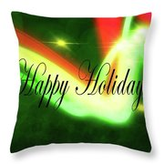 Abstract Holiday Throw Pillow