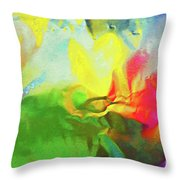 Abstract In Full Bloom Throw Pillow