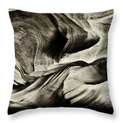 Abstract In Sandstone Slots Throw Pillow